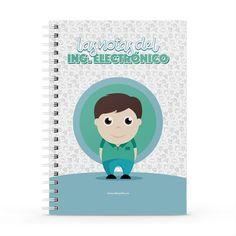 Cuaderno XL - Las notas del ingeniero electrónico, encuentra este producto en nuestra tienda online y personalízalo con un nombre. Notebook, Cover, Engineer, Notebooks, Report Cards, Store, Cover Pages, The Notebook, Exercise Book