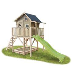 Kinder-Spielhaus EXIT «Crooky 750» Kinderspielhaus Holz-Stelzenhaus, Terrasse | Kinderspielgeräte für den Garten