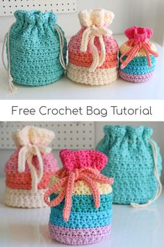 Learn how to make this drawstring crochet bag pattern with the amazing star stitch!  Full video tutorial and free crochet pattern!