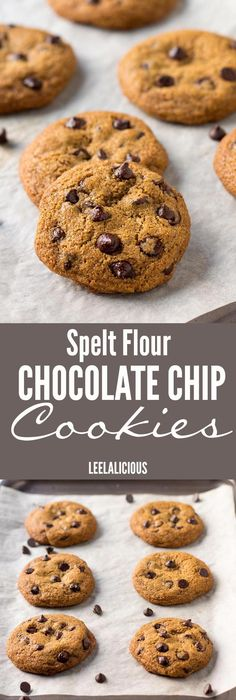 These whole grain Spelt Chocolate Chip Cookies are a clean eating dessert made with coconut oil and unrefined sugar. They are a delicious way to satisfy sweet cravings with wholesome ingredients.