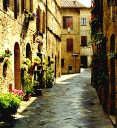 Pensar que has estado aquí...Pienza, La Toscana, Italia