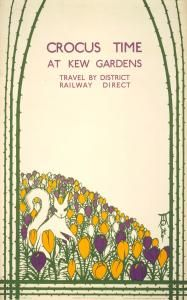 Crocus time at Kew Gardens, 1923