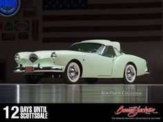 """The 1954 Kaiser-Darrin Convertible is the first true American sports car that had its prototype introduced before the Corvette and T-Bird! » http://j.mp/SD15_Lot2017 This beautifully proportioned two-seater was designed with a front end that """"always looked like it wanted to give you a kiss!"""" #PratteCollection #BarrettJackson #Auction #auto #Sportscar #vintage #American"""