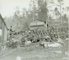 Another specialist unit our group portray's from time to time is the Canadian Forestry Corps.  Here a chaplain preaches to a open air congregation of the CFC men