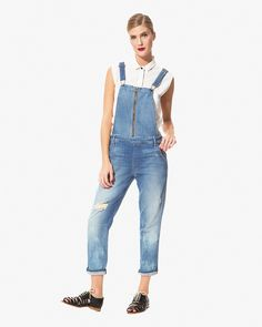 Mother The Overall Dropout Denim   LuckyShops