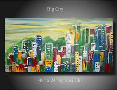 Original Painting Modern Contemporary Abstract by SusiUhlArt, $265.00