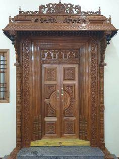 Single Door Design, Wooden Main Door Design, Double Door Design, Pooja Room Door Design, Door Design Interior, Home Room Design, Door Design Images, Mandir Design, Classic House Design