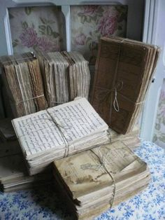 Time-Worn Books and Pages - ideas on how to salvage damaged books - via Simply-Chateau