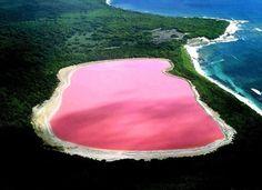 Lake Hillier, a pink lake in Australia