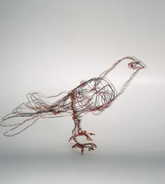 Little Standing Bird ornament Wire by 3dimensionaldrawings