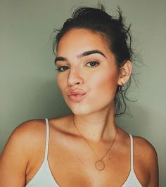 Natalie Noel as seen while pouting for the camera in Los Angeles, California, United States in November Pretty People, Beautiful People, Beautiful Eyes, Baby Curls, David Dobrik, Vlog Squad, People Icon, Hair Color Dark, Celebs