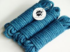 Hemp Rope  Blue  Shibari BDSM by WitherAndDye on Etsy, $75.00