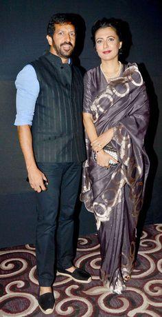 Kabir Khan and wife Mini Mathur at the Lakme Fashion Week Winter/Festive 2014 Day 3. #Bollywood #Fashion #Style #Beauty