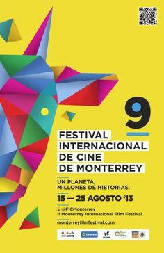 Festival Internacional de Cine Monterrey 2013 Typography Poster Design, Graphic Design Posters, Lettering Design, Festival Internacional, Mexican Designs, Poster Design Inspiration, Publication Design, Festival Posters, Gd