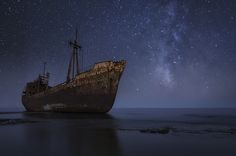 Sinking under the stars by Chris Kaddas on 500px