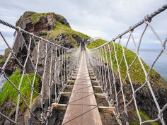 Each year, roughly 250,000 travelers carefully traverse this delicate, 98-foot-high path between the mainland and the bridge's namesake island. Visitors who brave the 66-foot-long bridge are rewarded with sweeping views of Rathin Island, Scotland, and the Irish Sea, along with at least four species of native birds.   ..rh