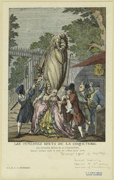 Les Funestes Effets De La Coqueterie : Gravure Satirique Contre La Mode Des Coiffures (Xviiie Siecle).  New York Public Library