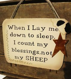 Primitive Sheep Sign by TandJscountrycrafts on Etsy, $14.95