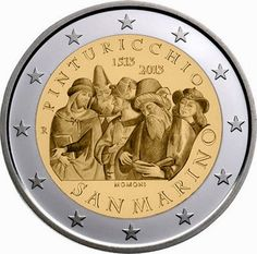 2 Euro Commemorative Coins 2 euro San Marino 2013, 500th Anniversary of the Death of Pinturicchio