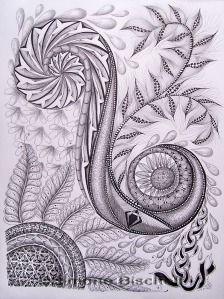 In German blog by Simone Bischoff. Well worth a visit very unique zentangles