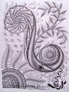 """#doodles, #tangle art, #zia, zentangle-inspired,  """"Swirly Zentangle(R)"""""""