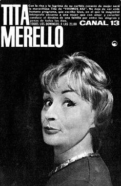 Tita Merello en CANAL 13, 1962.