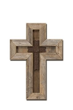 or this...without the insert (rustic barn wood cross)