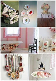 Casa de Colorir: Découpage na decoração da casa - Como fazer um quadro usando guardanapo