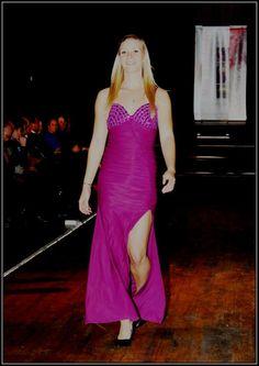 Purple evening dress with rhinestones - R800