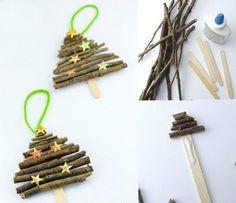 bastelideen-weihnachten-weihnachtsschmuck-kinder-naturmaterialien-weihnachsbaum-deko