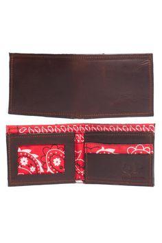 Mens Wallet - Brown Bandanna