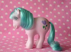 EXTREMELY RARE Alternate Birth Flower Pony February / Violet [MLP My Little Pony G1 Hasbro]