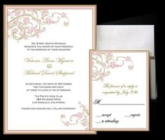 gold and pink for invites