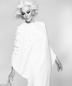 """""""As a model, I didn't have an identity; I was a chameleon, a silent actress. I was an amorphous thing."""" - Carmen Dell'Orefice"""
