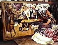 "Pintando ""La mesa herida"""