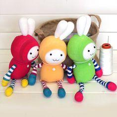 Sock DIY kit baby toy rabbit 15inch 38cm tall.....b105 by SewSir, $19.00