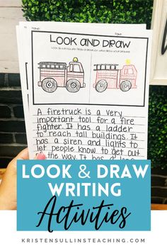 """If you want to hear """"aww, man"""" because writing time is over, then this set of writing activities is for you! You can easily differentiate these writing activities/writing packets to meet the needs of all learners while also providing a challenge for those who need it. Writing Mini Lessons, Teaching Writing, Writing Activities, Writing Tips, First Grade, Second Grade, Writing Station, Mentor Texts, Read Aloud"""