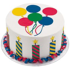 Inspirational Birthday Cake - Colorful candles, balloons and streamers inspire your best birthday bash ever! Make the dazzling decorations with ease using edible, flexible Sugar Sheets! in a rainbow of colors. Wilton Cake Decorating, Birthday Cake Decorating, Cake Decorating Tools, Cake Decorating Techniques, Wilton Cakes, Fondant Cakes, Cupcake Cakes, Teachers Day Cake, Sparkle Cake