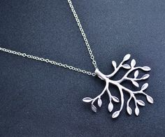 Sterling Silver Necklace  Tree Branch by CreatedReality on Etsy, $19.00