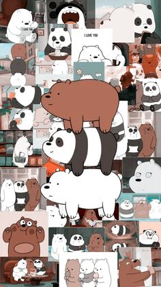 we bare bears Cute Panda Wallpaper, Bear Wallpaper, Kawaii Wallpaper, Cute Wallpaper Backgrounds, Iphone Wallpaper Tumblr Aesthetic, Galaxy Wallpaper, Purple Wallpaper, Aesthetic Wallpapers, Tumblr Iphone Wallpaper