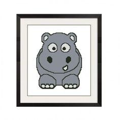 ALL STITCHES - BABY HIPPO CROSS STITCH PATTERN .PDF -658 by AllStitches, $5.00 USD