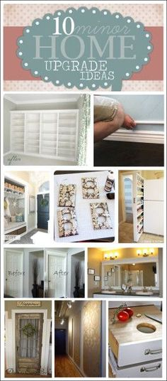 10 minor home upgrade ideas. Small projects can make a BIG difference!