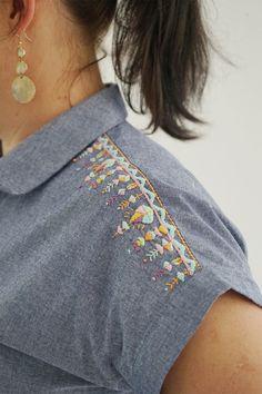 La robe brodée aztèque – Blog maille name is