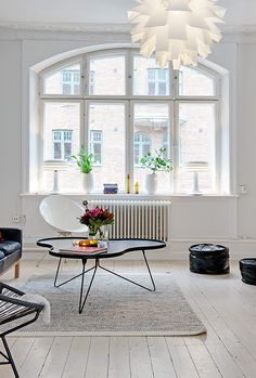 Living Room : White Home Interior Industrial Minimal Inspiration White Floorboards Oracl Design Jobs, Küchen Design, Floor Design, House Design, Living Room Windows, Home Living Room, Living Room Designs, Living Room Decor, Luxury Homes Interior