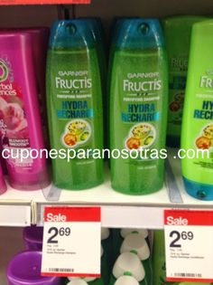 Target: Garnier Fructis Shampoo o Acondicionador a sólo $0.69