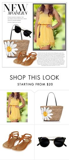 """""""Stitching Lace Sleevlees Dress - MaxFancy"""" by maxfancy ❤ liked on Polyvore featuring Envi, Kate Spade and polyvoreeditorial"""