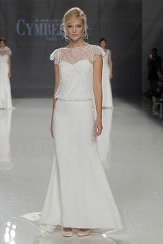 Model Canelle #cymbeline2018 #new #collection #2018 #cymbeline #fashion #show #bbfw #wedding #bridal #weddingdress #weddinginspiration #love #bcnbridalweek @Barcelona Bridal Fashion Week