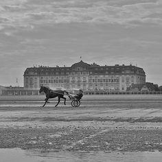 Entraînement sur la plage de Deauville