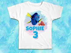 Finding Dory Nemo Birthday Shirt Custom Age and by ShinyAwesome