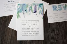 Watercolor Wedding Invitation Suite by printerettepress on Etsy